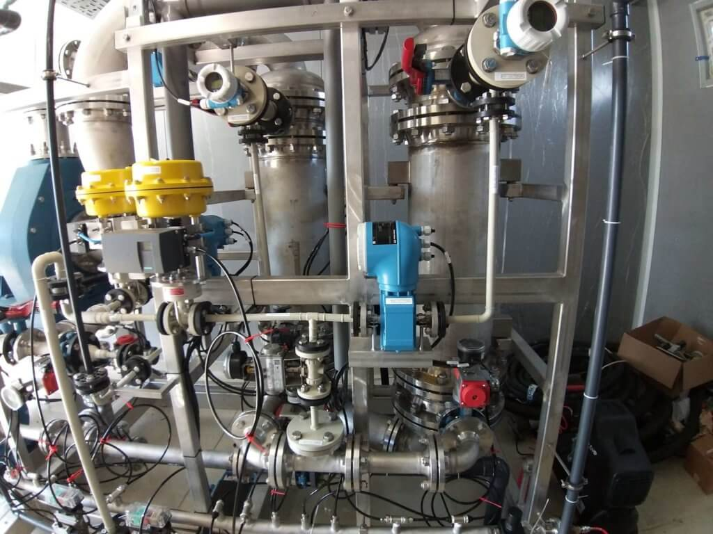 установка очистки отработанной серной кислоты