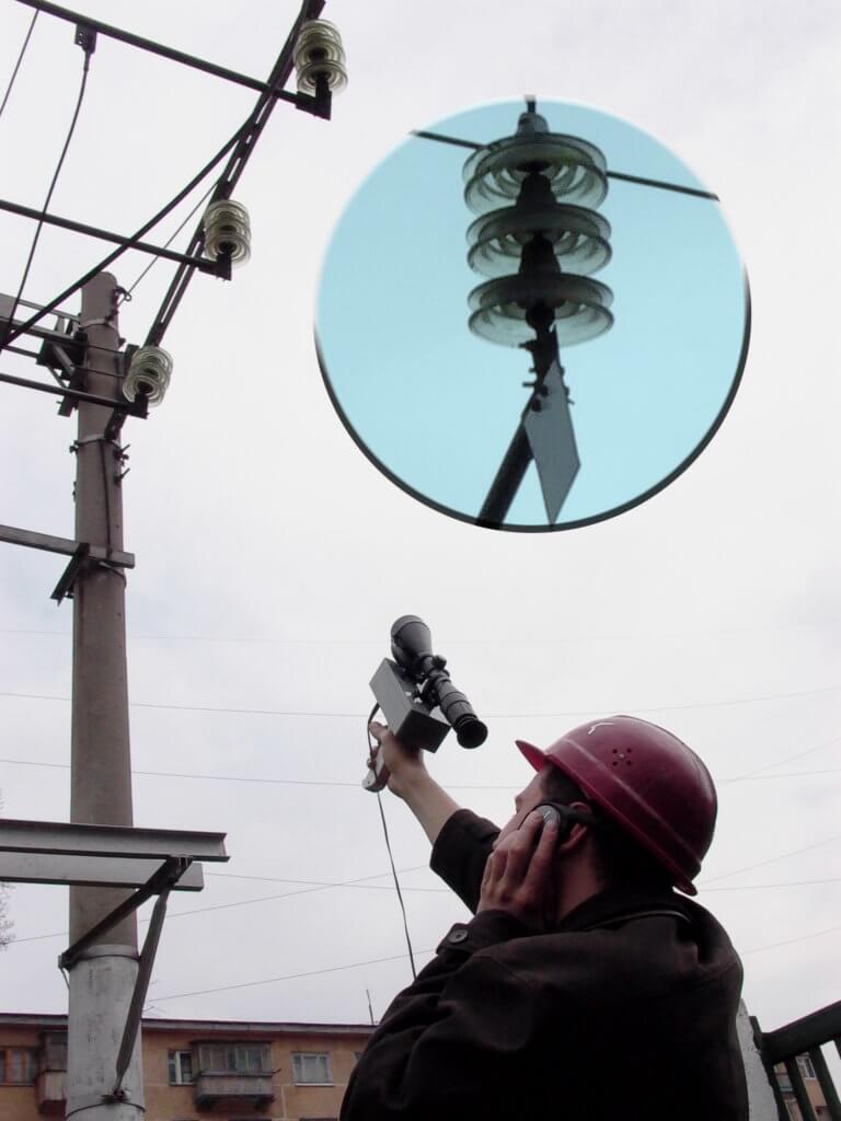 Прибор контроля высоковольтного энергетического оборудования под напряжением